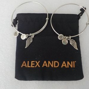 Alex and Ani Angel Wings Braclets - Set of Two